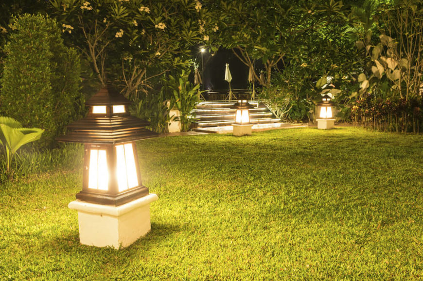 there are many different kinds of lanterns that can be used in your yard some - Landscape Lighting Design Ideas