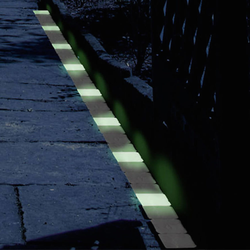 lining a walkway with glow in the dark bricks is a brilliant idea if you - Garden Ideas Lighting