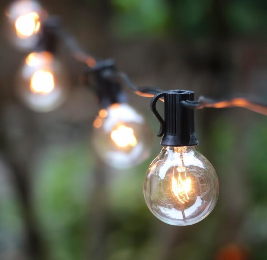 75 brilliant backyard landscape lighting ideas 2018 a simple string of bulbs can be used in many ways it is likely the aloadofball Gallery