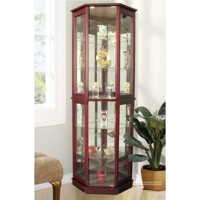 Jenlea Lighted Standing Corner Curio Cabinet and Trophy Display Case ...  sc 1 st  Home Stratosphere & Top 10 Best Curio Cabinets for 2018