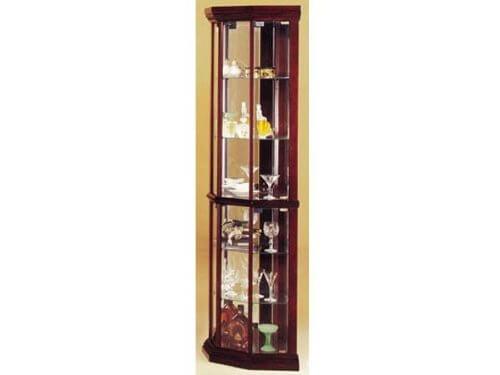 Martha Corner Cabinet, Cherry Finish