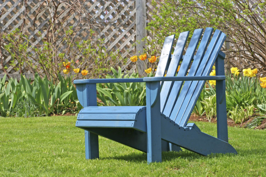 While Adirondack chairs are great side by side, they are also amazing alone. If you desire solitude you can set your chair out near your flowers and lay back as you take in the outdoors.