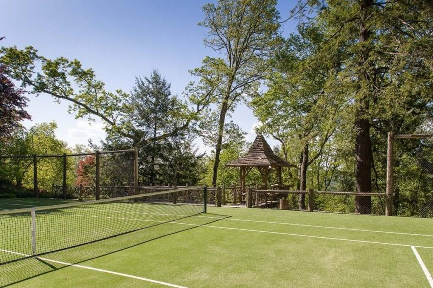 Building A Tennis Court Among Your Trees Is A Great Way To Create Some  Seclusion To