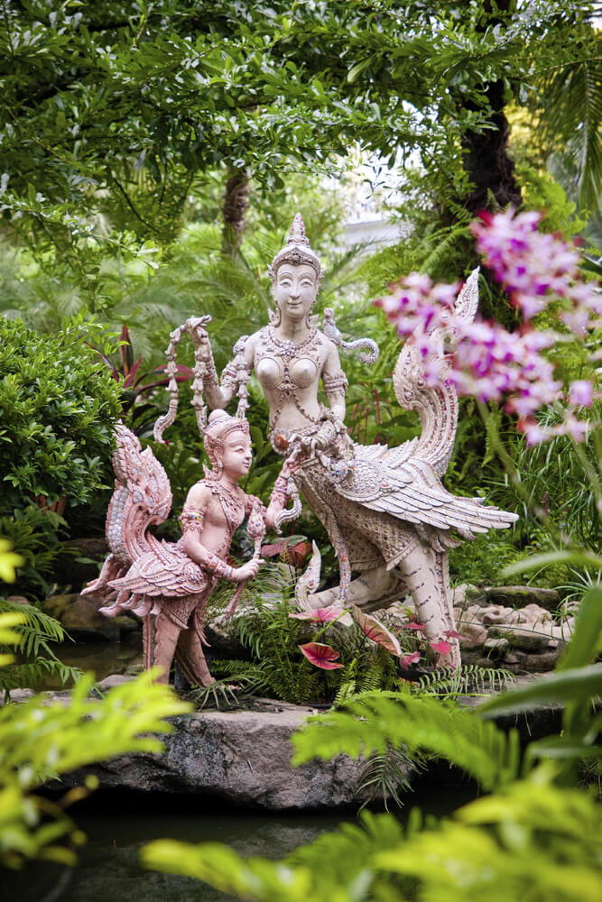 You can use your outdoor sculptures to express a great number of things. If you have specific spiritual leanings or just appreciate the art of various cultures, you can place sculptures that reflect these interests for the world to see.