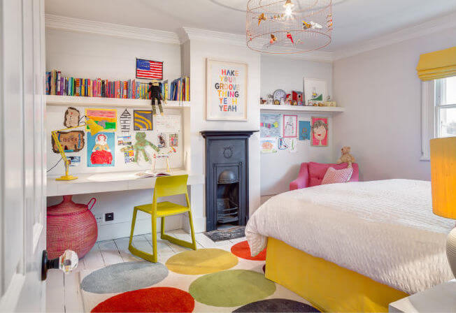 Adorable Kid S Room Filled With Bright Colors And Textures