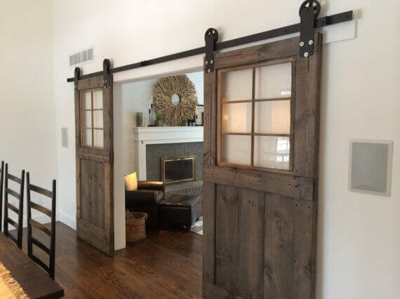 If you donu0027t like the look of one very large door or don & 30 Sliding Barn Door Designs and Ideas for the Home