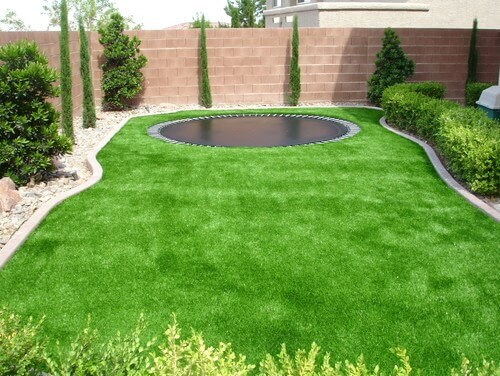Small lawns are great places for astroturf. You will not need to spend as much to install the turf, nor will you have to mow or water your lawn, adding one more thing you can put out of your mind.