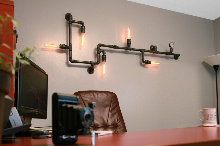 35 industrial lighting ideas for your home this industrial wall light is flexible and will look great in any office retail space aloadofball Gallery