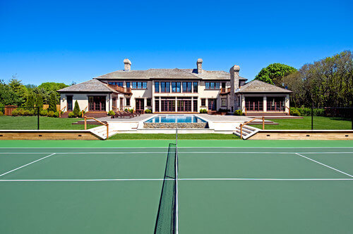 Superb This Lovely Green Tennis Court Matches Well With The Rest Of The  Landscaping In This Yard