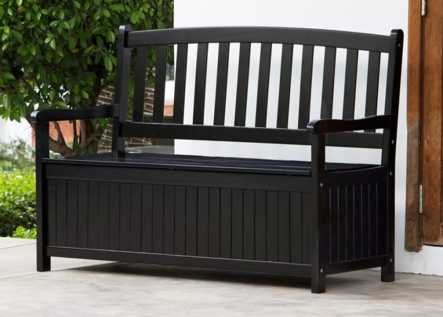 colored wood patio furniture. Here Is Another Bench With Underseat Storage. This Painted Black For A Nice Colored Wood Patio Furniture