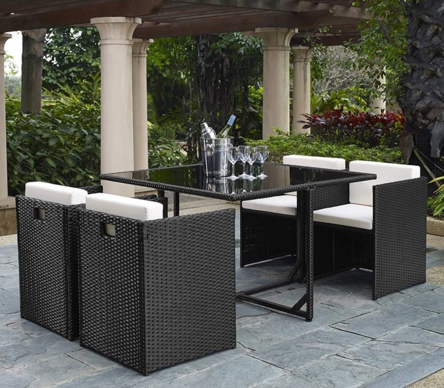 This Patio Set Has A Great Minimalist Design. The Clean And Simple Lines Of  This