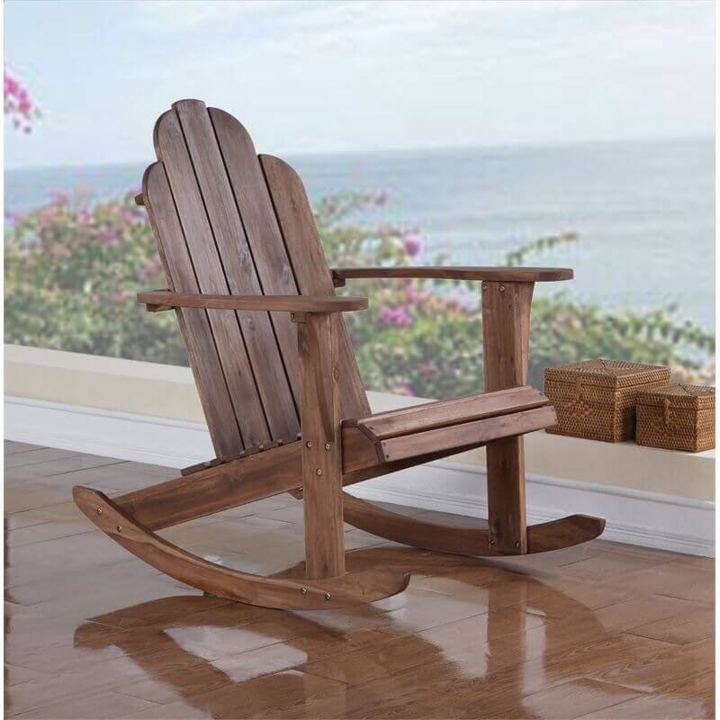 Some adirondack chairs come with a rocking motion. Rocking back and forth can be a great stress reliever. This mid ranged adirondack chair has a rocking base that makes it the ultimate chair in relaxation.
