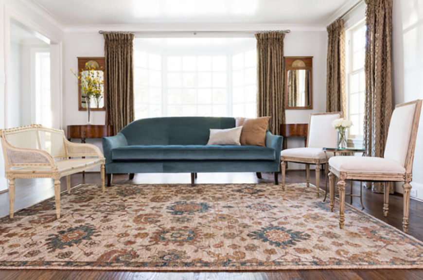 A Multi Colored And Intricately Designed Beige Rug Can Transform Dining Or Living Room