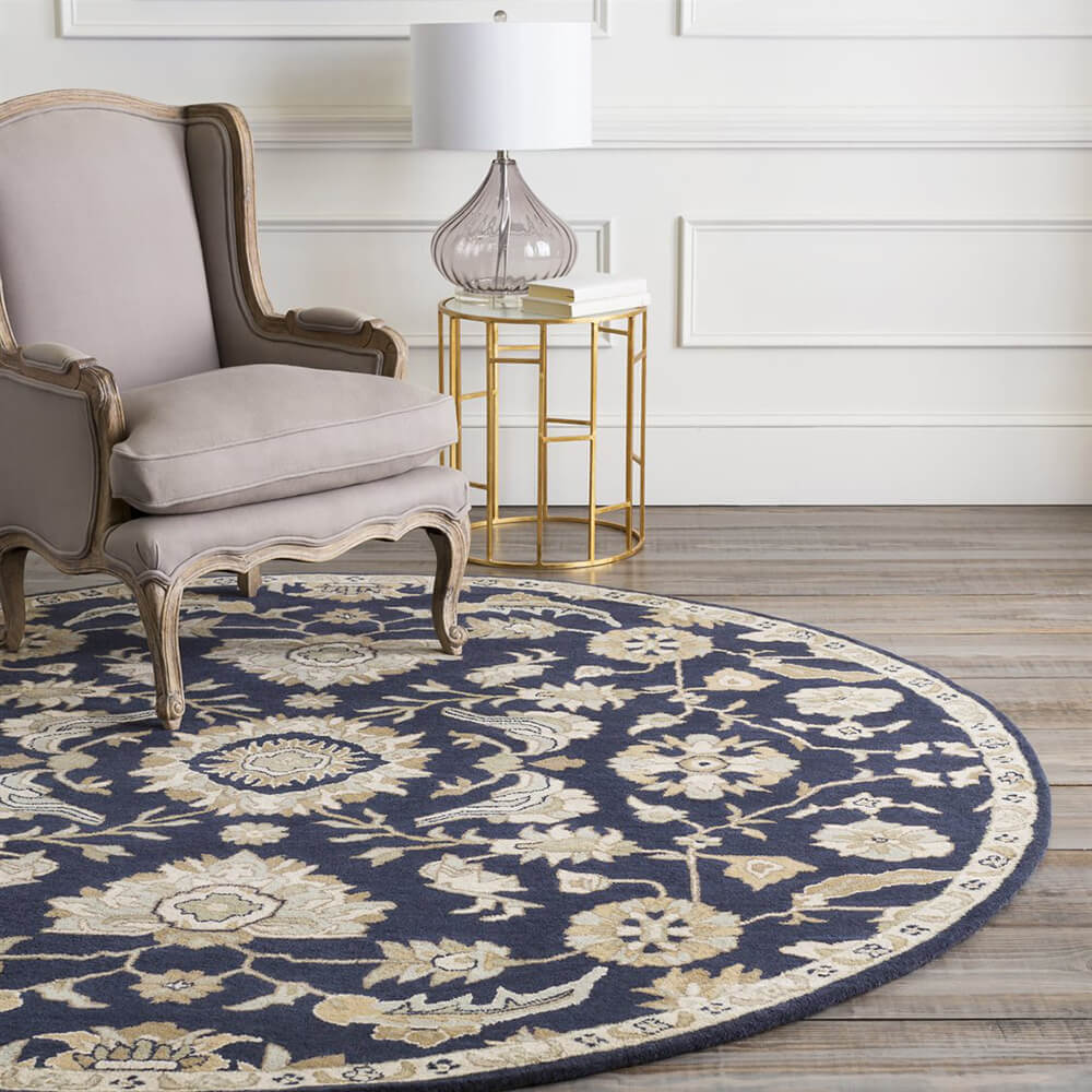 28 Circular Floor Rugs Round Rugs Classical Navy 500 Floor. Round ...