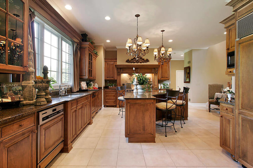 Using some earthen materials as decoration can help your kitchen maintain a warm and natural feel.