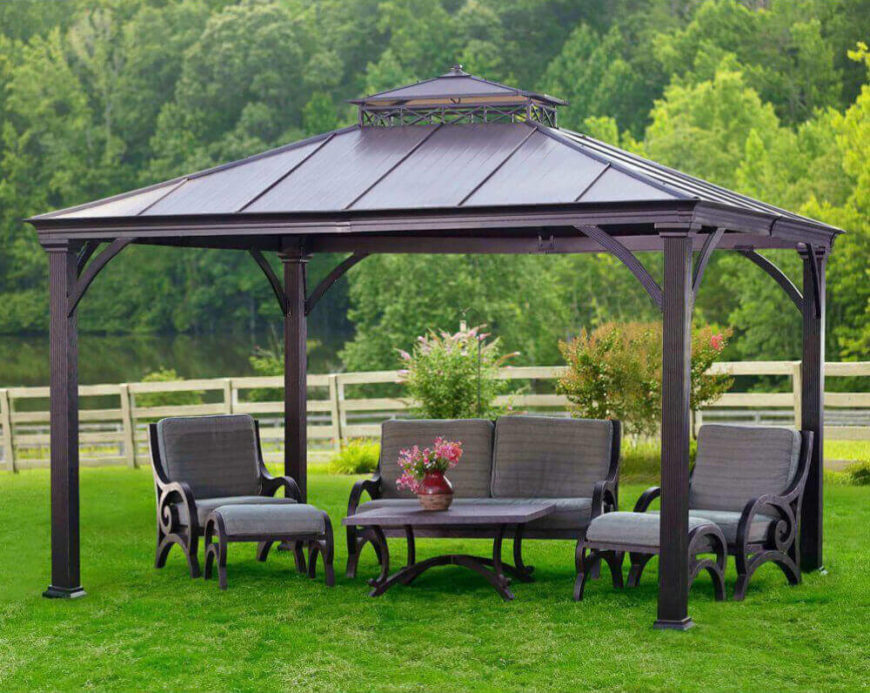Hardtops come in many styles and can be matched with different kinds of furniture. Matching your furniture to your gazebo can make your space feel very united and consistent.