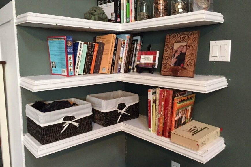 Floating Corner Shelving Is Welcome In Basically Any Room In The House, But  Nowhere Is