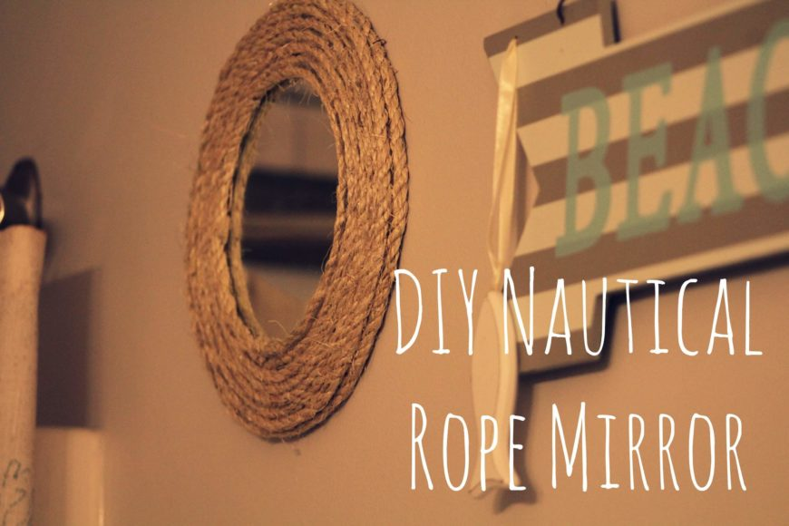 This is another simple DIY that captures the essence of beach home decor. This DIY is perfect for beginners and even kids!