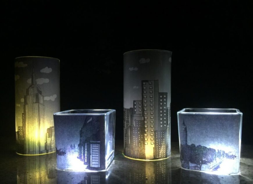 Cityscape luminaries a little craft in your day these lovely lights are simple to make and create an incredible soft luminary thats perfect for