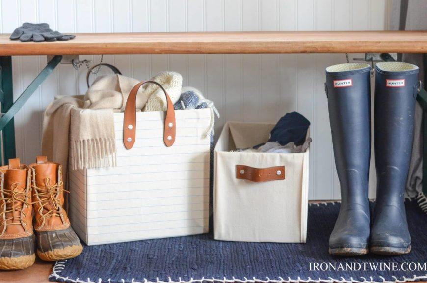 These Adorable Storage Bins Will Go Perfectly In A Mudroom, Foyer, Or In A