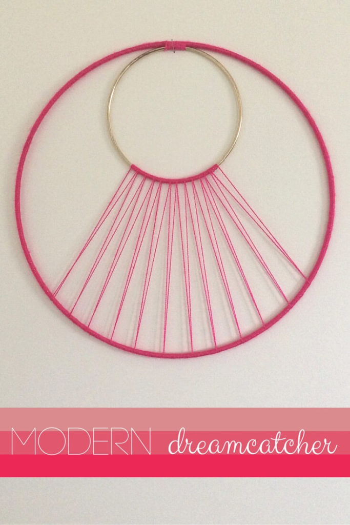 This modern art take on traditional dreamcatchers is a beautiful addition to any contemporary space.