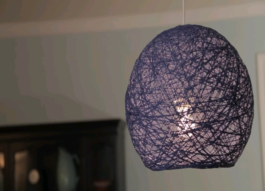 DIY Room Décor Ideas To Liven Up Your Home - Diy cloud like yarn lampshade
