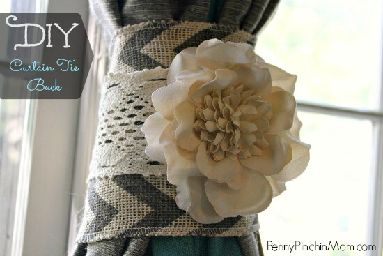 This Beautiful DIY Will Have Your Curtain Tiebacks Looking Spiffy! The  Project Utilizes Popular Fabrics