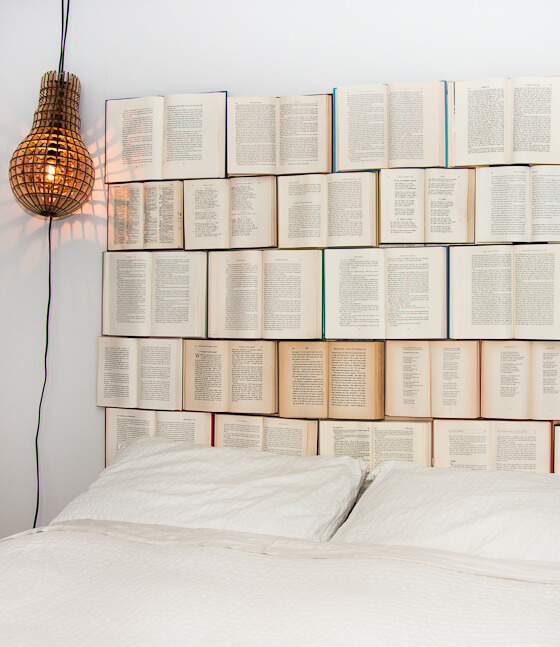 77 DIY room decor with books Design Every Day