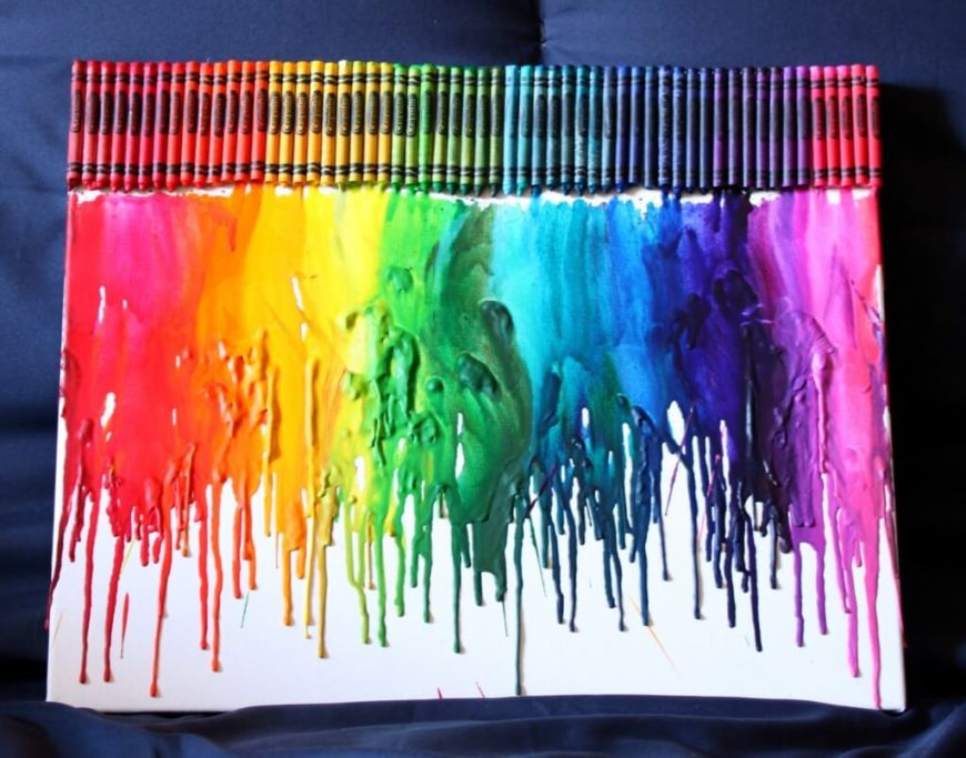 96 diy room d cor ideas to liven up your home for How to make a melted crayon art canvas