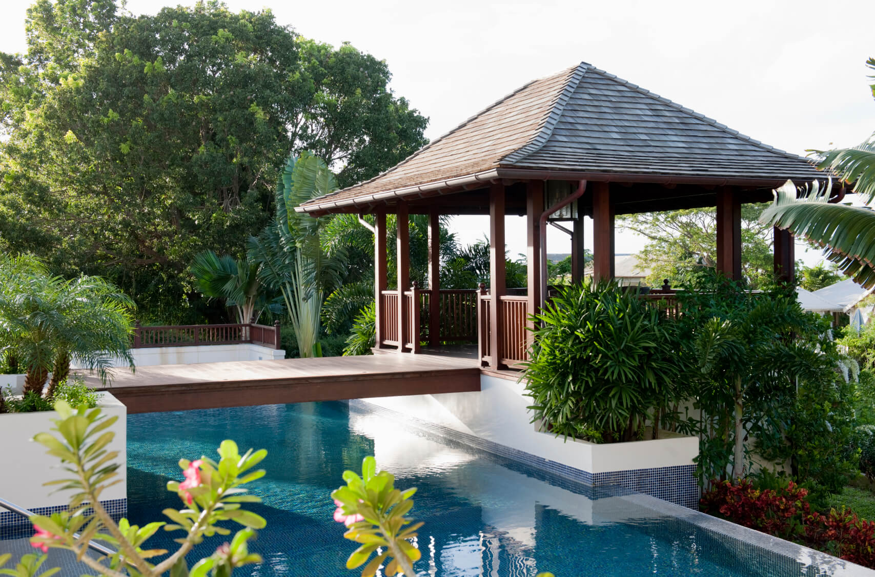 34 glorious pool gazebo ideas for Pool design with gazebo