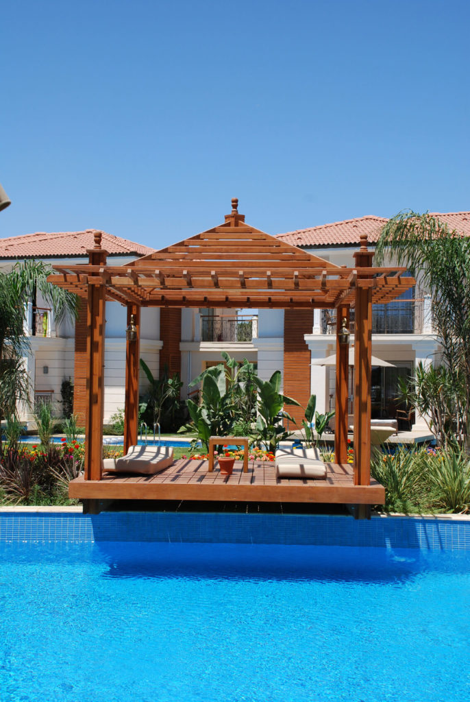 34 glorious pool gazebo ideas Relaxed backyard deck ideas
