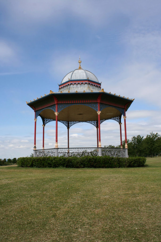 This elegant and stylish gazebo is an eye catching piece that will give your space a great appeal. This style of gazebo makes a statement and stands out from other kinds of gazebos. This is a great space to relax under while enjoying your surroundings in the shade.