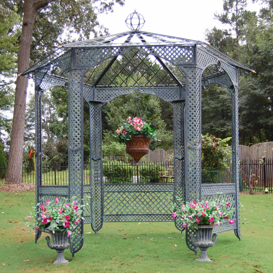 Bon This Style Of Gazebo Is Ideal For Pairing With Elegant Planters And A Well  Organized Garden