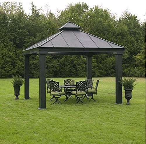 34 metal gazebo ideas to enhance your yard and garden with. Black Bedroom Furniture Sets. Home Design Ideas