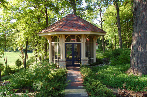 The deep woods is an environment that is lousy with bugs and insects. A gazebo in a space like this would do well with added protection from any crawling or flying critters that are bound to make your outdoor time unpleasant.