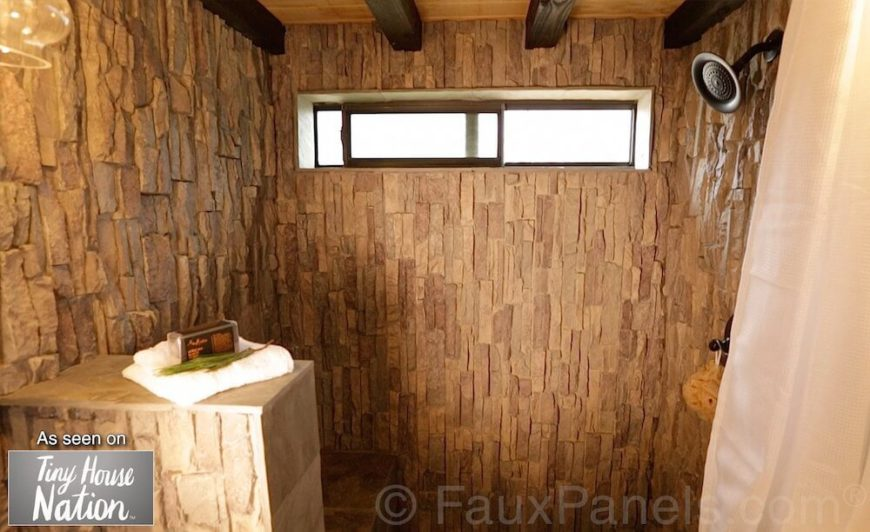 Faux Brick And Rock Panel Ideas Pictures - Fake tile panels for bathroom walls