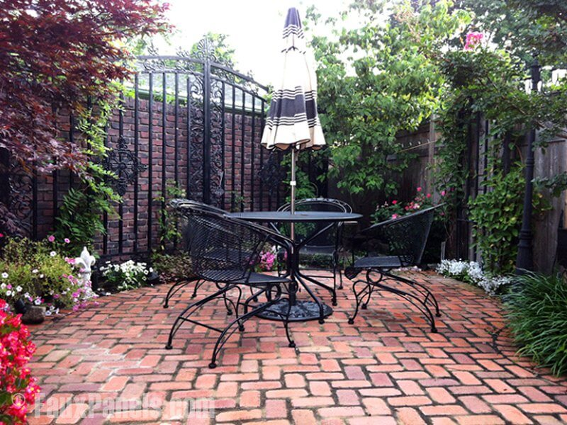 Beau This Is An Interesting Example Of Faux Brick Being Using In A Garden  Setting. In