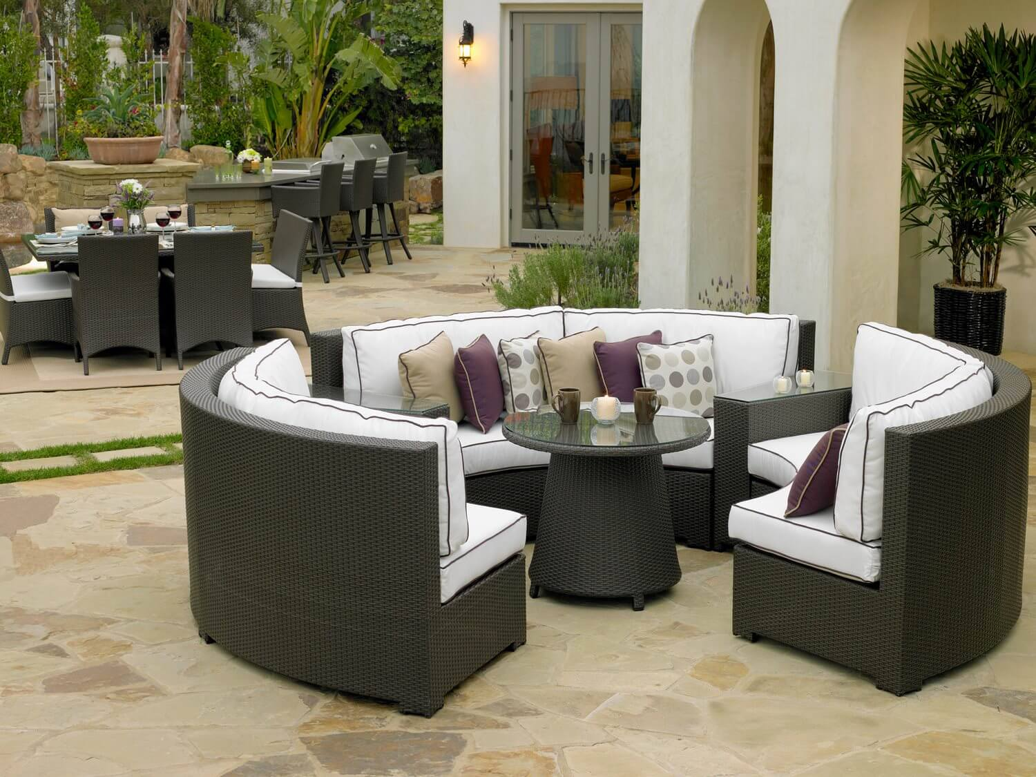 furniture of sectional elegant sale outdoor patio wicker