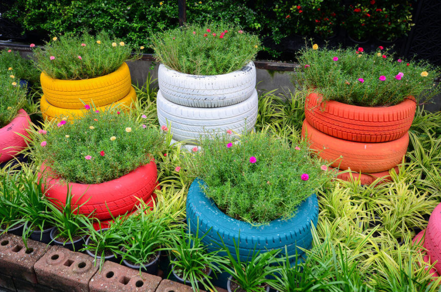 29 Flower Tire Planter Ideas for Your Yard (and Home) - photo#8