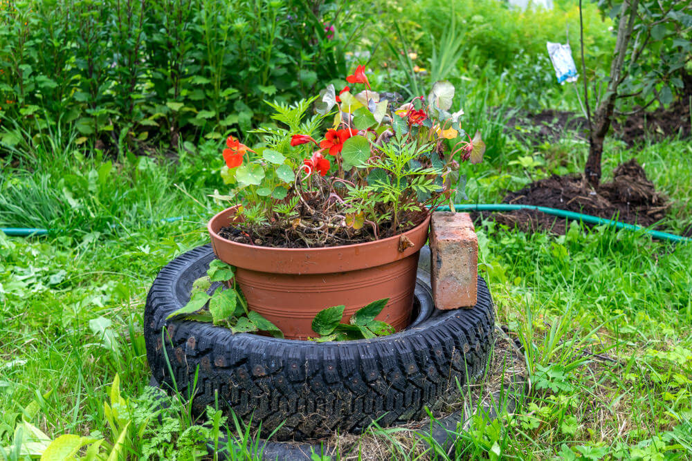 29 Flower Tire Planter Ideas for Your Yard (and Home) - photo#15