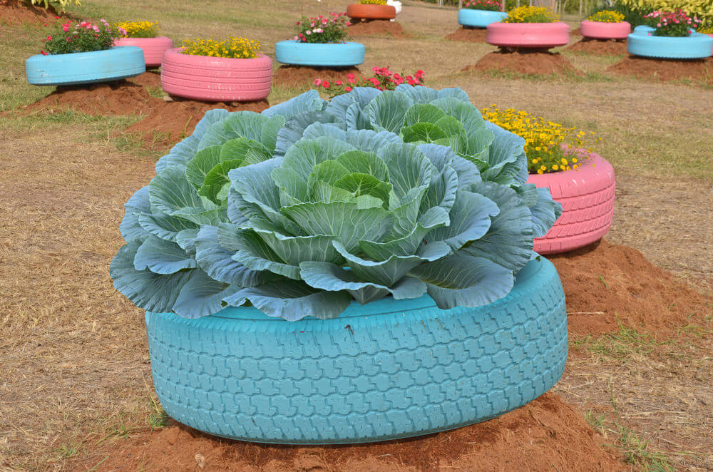 29 Flower Tire Planter Ideas for Your Yard (and Home) - photo#14