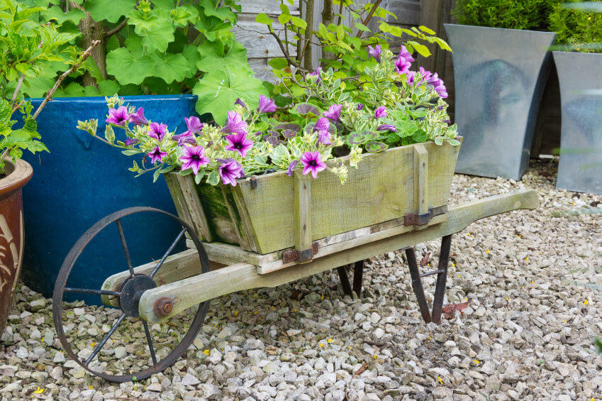 Got an old wheelbarrow lying around? Learn how to make a functional planter out of a wheelbarrow wheel with this step-by-step guide from This Old House. Turns out you can reinvent the wheel—in a charming herb planter Create a Vintage Wheelbarrow Planter. Shopping List.