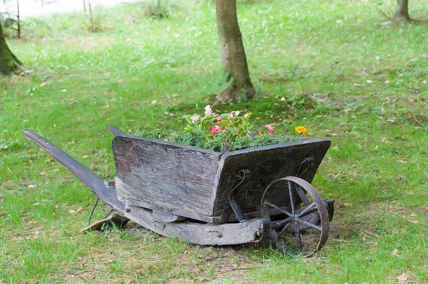 27 Wheelbarrow Flower Planter Ideas For Your Yard Home