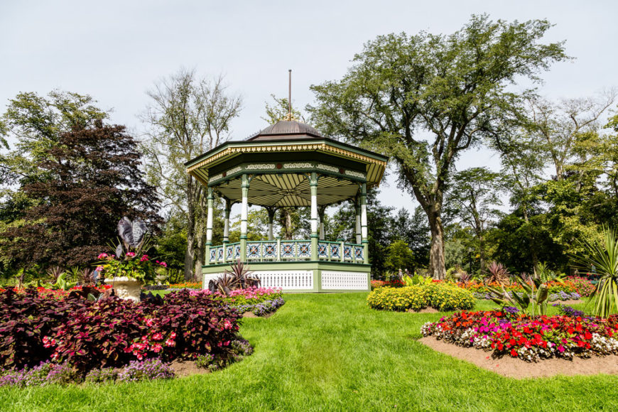 This Gazebo Sits In The Center Of Flower Gardens, Making It A Splendid Spot  To