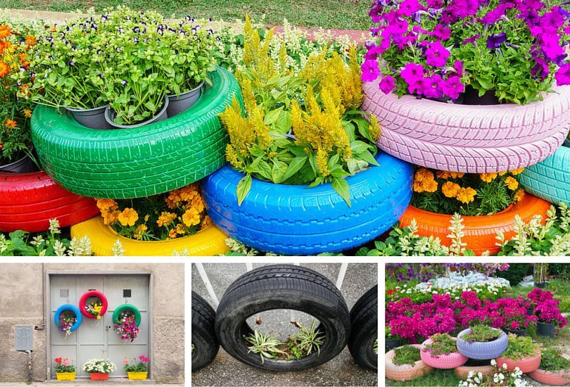 tire planters - Garden Ideas Using Tyres