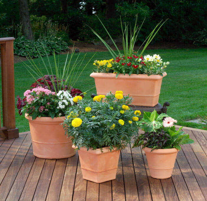 patio potted plant and flower ideas creative and lovely photos, planting ideas for patio pots uk, potted plant ideas for patio