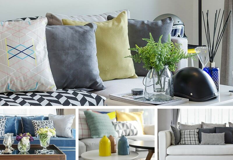 Sofa Pillow Arrangements