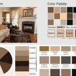 Living Room Color Scheme: Vanilla, Sorrell Brown, Rustic Red & Tan