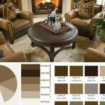 Tan, Coffee, Brown, and Peat Living Room Color Scheme
