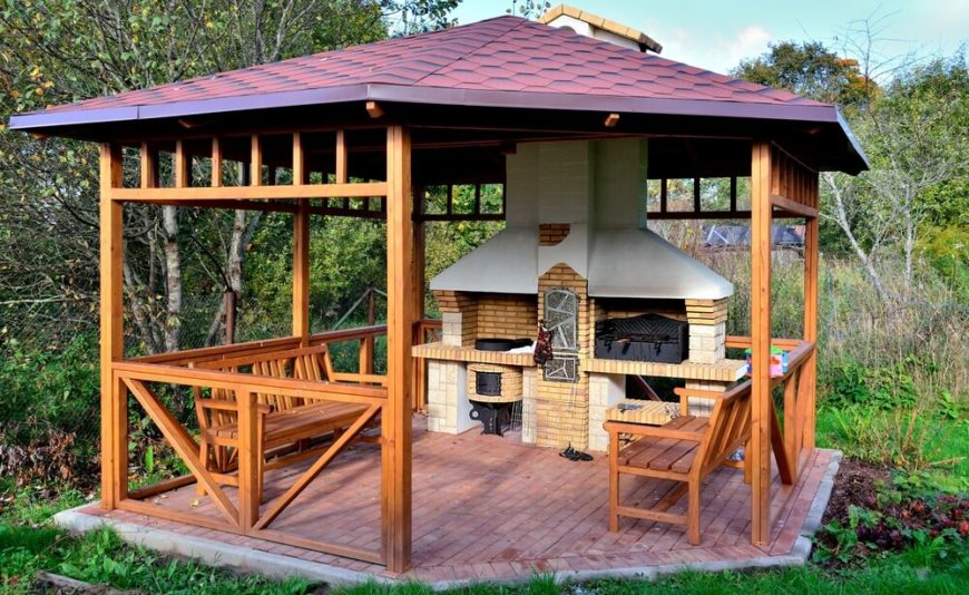 Gazebos sheds pergolas and other outdoor structures photo galleries - Build rectangular gazebo guide models ...